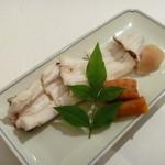 19138020 - 穴子の白焼き、人参の丸焼き、しょうがの甘酢漬け