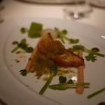 ラ・ロシェル - 時鮭のマリネを軽く火を入れアスパラソバージュと新小玉ねぎの味覚で