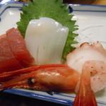 弥次喜多 - 魚河岸定食950円の刺身