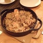 ラ・コシーナ・デ・ゲン - 薩摩軍鶏とボルチーニ茸の鉄鍋