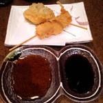 DEN - 串揚げ(元祖豚串かつ、茄子)