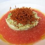 ターブル ドゥ クドウ - 相方の前菜 毛ガニとアボカドのタルタル フレッシュトマトのコーリー