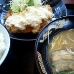 スミちゃんラーメン - チキン南蛮定食980円