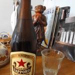 山本餃子 - ビールはサッポロの赤いお☆様でした♪