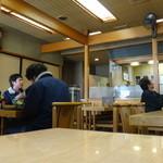 ニコ天 - テーブル席と座敷がある ニコ天(愛知県豊田市稲武)食彩賓館撮影