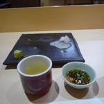 鮨四季の味 しおん - クエはだし汁でしゃぶしゃぶしてポン酢で