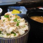 19155059 - 五島灘アジの干物の炒めご飯