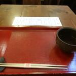 蕎麦切りmasa - そば茶も美味しいですね