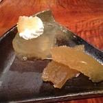 旬菜 しながわ - 熊本の晩白柚のゼリーと甘露煮のデザート。