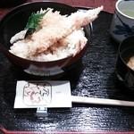 とんぼ - 大海老天丼。オープン♪