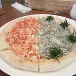 カフェ ビタースイート - 桜海老とシラスのピザ
