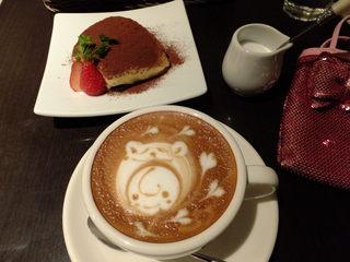 レッチェ - (p≧▽≦q)ティラミス&カプチーノ:ケーキセット 850円