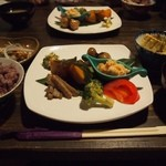 にこちゃん堂 - (5/25のランチ)肉味噌の出し巻き卵