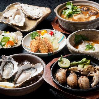 厚岸の牡蠣を中心に、サロマ、寿都など各産地から直送される自慢のカキ料理が一年中楽しめる!
