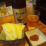 串角 - オリオンビール お通しのキャベツ