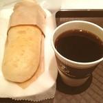 19169795 - ハムチーズのフォカッチャとコーヒー