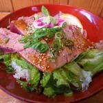 まぐろや黒銀 - 生マグロステーキ丼800円
