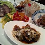 Chuugokuryouritambo - 昼のコースの前菜 4人前