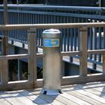 佛沙羅館 - 川床でも喫煙スペースがあり、風向きによっては…