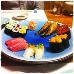 蛇の目寿司 - 【2013年5月24日】握り盛合せ(二人前) (^^)