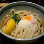 小麦房 - 温玉ぶっかけうどん、クーポン割引で220円