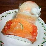 ハッピーバースデー - シトラスタルト・桃のショートケーキ