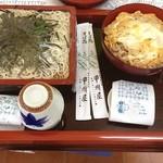 19183691 - お客さんと出前ww                       ざるそば&開化丼!!