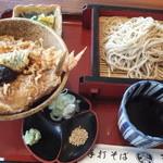 割烹処 和享 - ミニ天丼セット(1,050円)