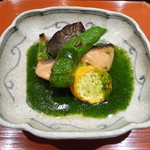 口福よこ山 - マスの木の芽ソース(2013年5月下旬訪問)