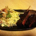 炭家 はるばろ - 串焼きステーキ 950円