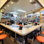 ふくふく食堂 - 江古田駅近く、千川通り沿いにある【ふくふく食堂】はオレンジの看板が目印です。