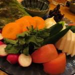 鈴や - 【再訪2】有機野菜の盛り合わせ