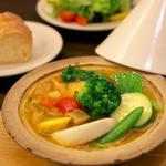 野菜たっぷり!!タジン釜(たっぷりサラダ、パン付)