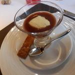 イル マンジャーレ - 鴨フォアグラのプディーノ 赤ワインとプラムのソース