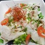 炭火炭美 善 - 豚シャブと豆腐のゴマダレサラダ