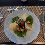 レストラン オーブ - 小エビと菜の花のサラダ