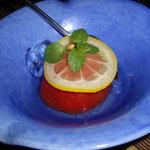 すゞ禅 - optio A30で撮影。トマトのレモン煮。