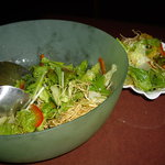 すゞ禅 - optio A30で撮影。揚げ牛蒡のサラダ。