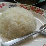 タイ国惣菜料理 ゲウチャイ - ライスは香ばしいジャスミンライスでした