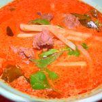 ヤムヤム キッチン - 牛肉のレッドカレー