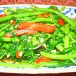 ヤムヤム キッチン - 空芯菜のピリ辛炒め