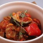 イタリアントマト鍋とオーガニックワインの店 COCOKARA - 季節野菜のトマト煮 ラタトゥイユ風