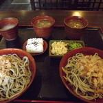 そば重 - 「おもてなし膳」1,000円  おろし蕎麦が2皿出てきます。