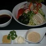 開華亭 - 料理写真:夏季限定 冷やし中華  色とりどりの野菜がたくさん乗ってます