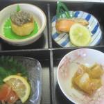 19209767 - かじや膳(1575)/別途長芋のスープ、とろろごはん、抹茶、デザート付