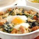 ママス ジュニア - ミディアムドリアセット(チキンと法蓮草の温泉卵のせドリア)