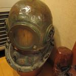 浜小家 - 会計所脇に置いてあった潜水用のマスク