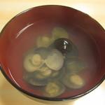 19210454 - 十三湖産シジミ汁(塩):350円