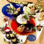 美食 個室・炭火焼・ワイン 縁 - 月替りで愉しめるおすすめ料理はCPも高く人気のメニュー