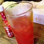 ハモター酒場 - ¥500 ブラディマリーか焼酎のトマトジュース割です。            ハモターシーザー?!(笑